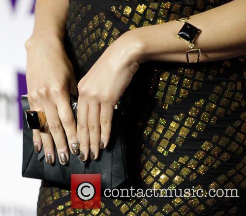 Singer Jordin Sparks (purse and nail detail) VH1...