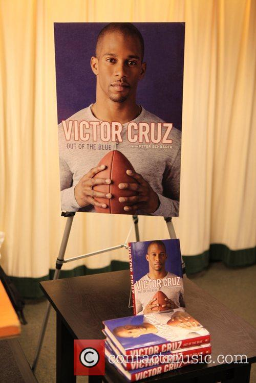 Victor Cruz promotes his memoir 'Out Of The...