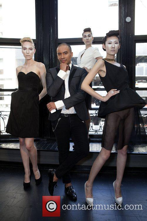 Models and designer Victor de Souza Mercedes-Benz New...
