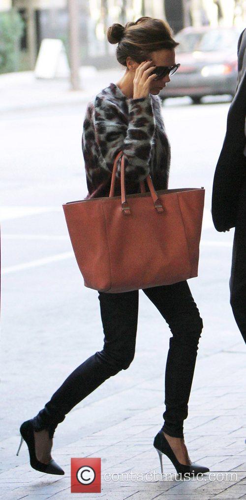 Victoria Beckham  seen entering 'Neiman Marcus' designer...