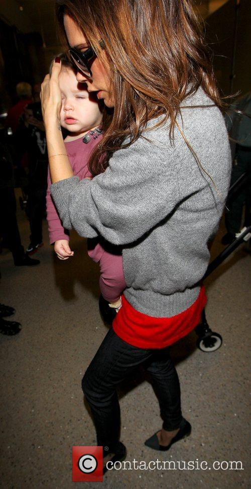 Victoria Beckham and Harper Seven Beckham 5