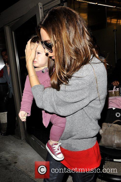 Victoria Beckham and Harper Seven Beckham 7