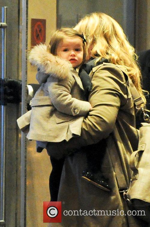 Harper 7 Victoria Beckham takes her children to...