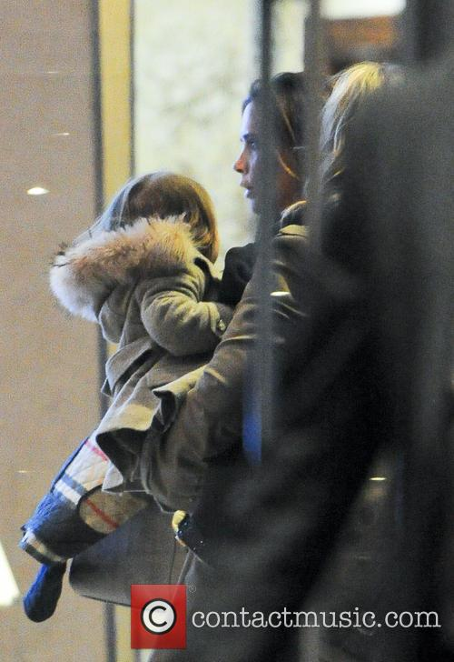 Victoria Beckham and Harper 6