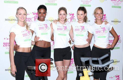 Victoria Secret models at Supermodel Cycle Ride to...