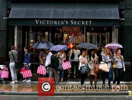 Exterior Views Victoria's Secret London flagship store launch...