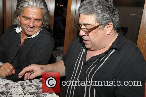 John Gennaro with Vincent Pastore looking at photo...