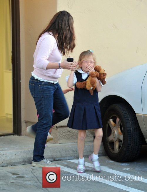 Violet Affleck leaving school in Santa Monica Los...