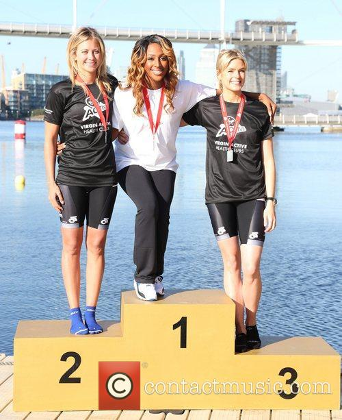 Holly Branson, Alexandra Burke and Isabella Calthorpe 1