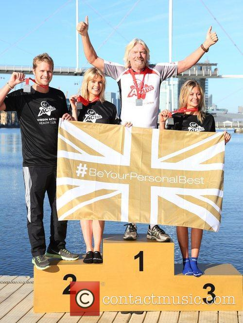 Sam Branson, Isabella Calthorpe, Sir Richard Branson and Holly Branson 2