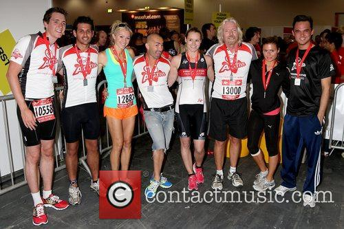 Nell McAndrew, Guests and Sir Richard Branson Virgin...