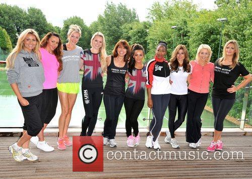 Lydia Bright, Chelsee Healey, Kay Burley, Michelle Heaton, Nell Mcandrew, Nicola Mclean and Zoe Hardman 1