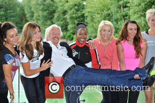 Chelsee Healey, Lydia Bright, Michelle Heaton, Richard Branson and Zoe Hardman 1