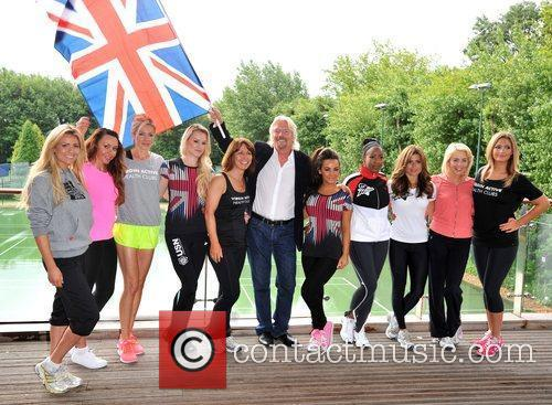 Richard Branson, Chelsee Healey, Kay Burley, Lydia Bright, Michelle Heaton, Nell Mcandrew, Nicola Mclean and Zoe Hardman 7