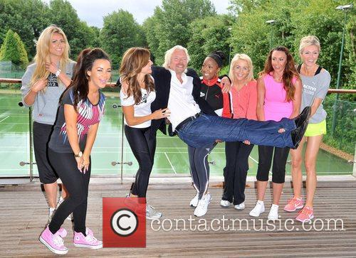 Richard Branson, Chelsee Healey, Kay Burley, Lydia Bright, Michelle Heaton, Nell Mcandrew, Nicola Mclean and Zoe Hardman 8