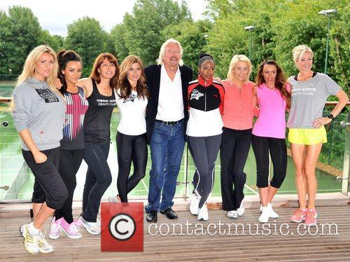 Richard Branson, Chelsee Healey, Kay Burley, Lydia Bright, Michelle Heaton, Nell Mcandrew, Nicola Mclean and Zoe Hardman 1