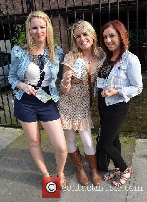 Comedians and guests arrive at Iveagh Gardens for...