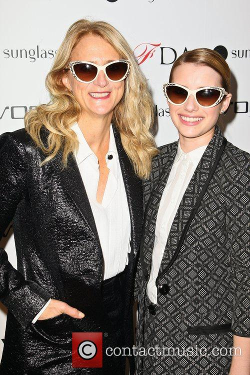 Nanette Lepore and Emma Roberts The Vogue Eyewear...
