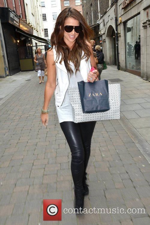 Brian McFadden's fiancee Vogue Williams spotted shopping in...