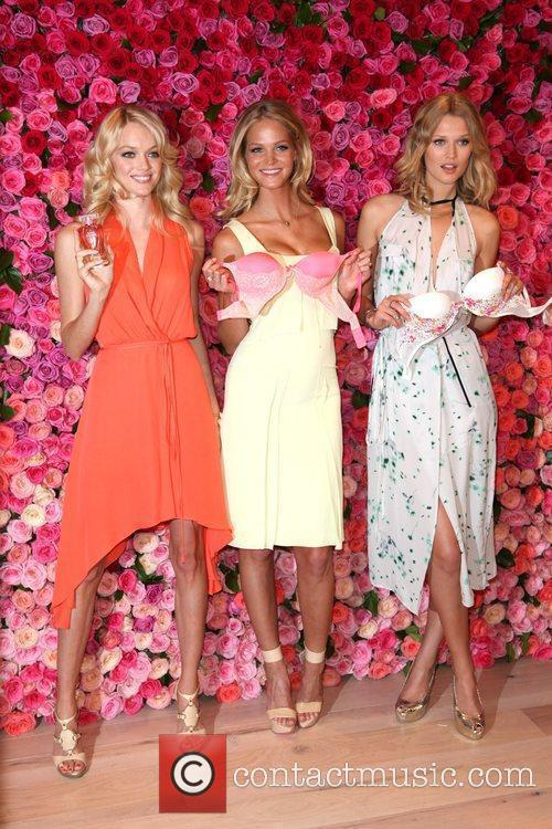 Victoria's Secret models launch Love is Heavenly fragrance...