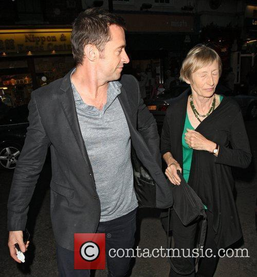 hugh jackman and his mother grace arriving 3957077