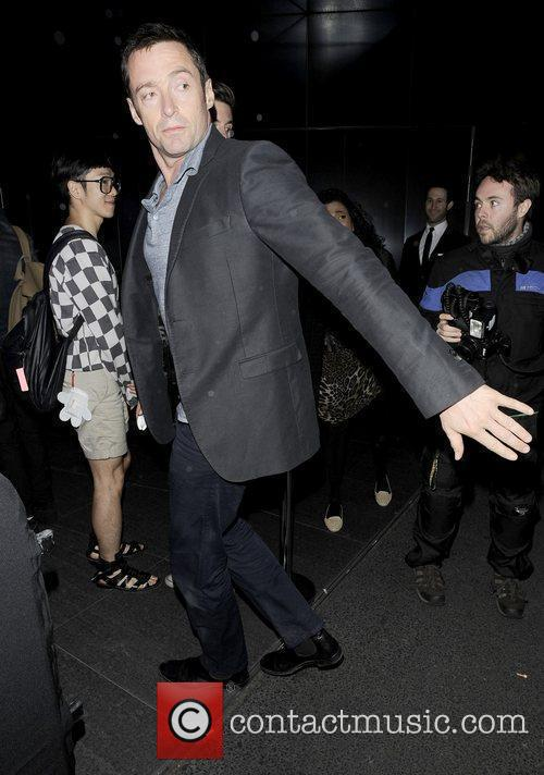Hugh Jackman  arriving at the W hotel...