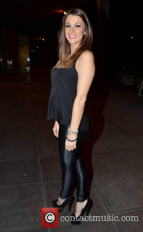 Natasha Giggs Celebrities outside the RTE studios for...
