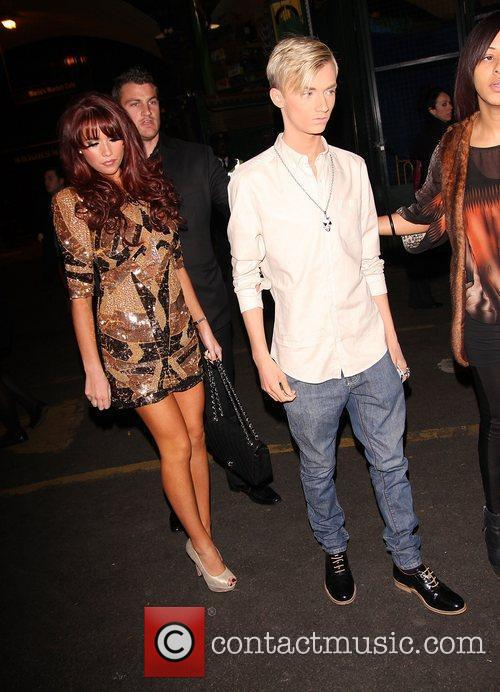 Amy Childs and Harry Derbidge,  at the...