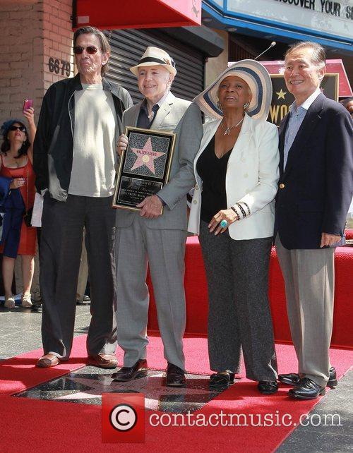 Leonard Nimoy, George Takei, Nichelle Nichols, Walter Koenig and Star On The Hollywood Walk Of Fame 2