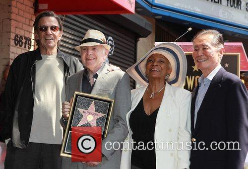 Leonard Nimoy, George Takei, Nichelle Nichols, Walter Koenig and Star On The Hollywood Walk Of Fame 3