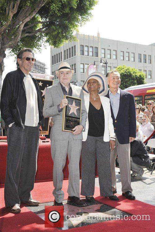 Leonard Nimoy, George Takei, Nichelle Nichols, Walter Koenig and Star On The Hollywood Walk Of Fame 4
