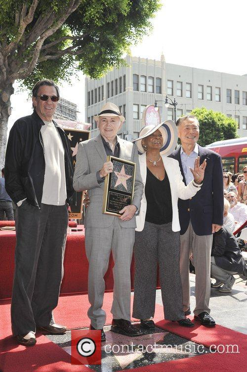 Leonard Nimoy, George Takei, Nichelle Nichols, Walter Koenig and Star On The Hollywood Walk Of Fame 5