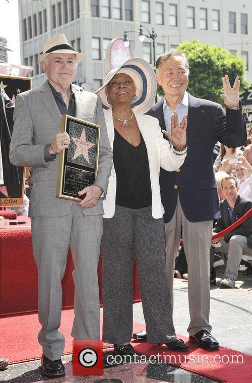 Walter Koenig, George Takei, Nichelle Nichols and Star On The Hollywood Walk Of Fame 2