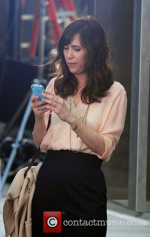 Kristen Wiig filming on location for 'The Secret...