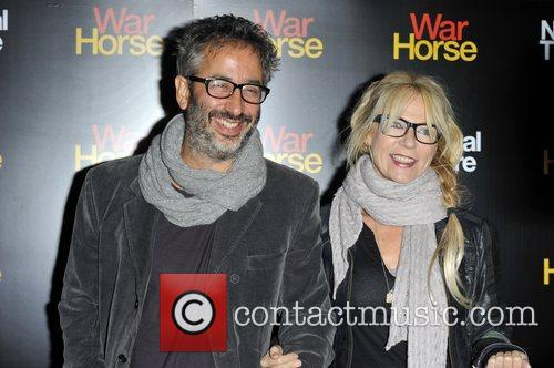 David Baddiel Attends the 5th anniversary performance of...