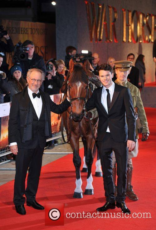 Steven Spielberg, Jeremy Irvine and Odeon Leicester Square 4