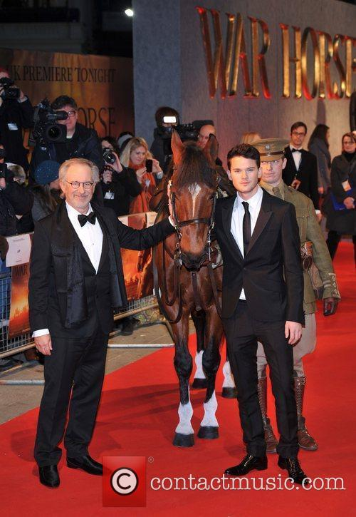 Steven Spielberg, Jeremy Irvine and Odeon Leicester Square 2