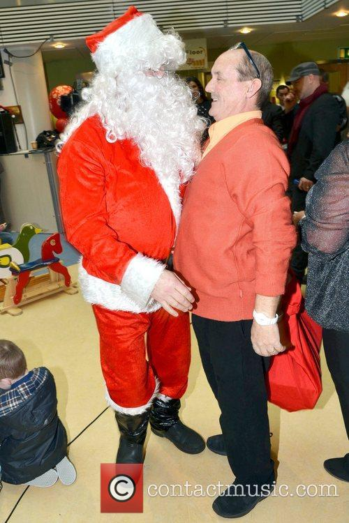 Brendan O'Carroll & Santa Celebrities attend the annual...