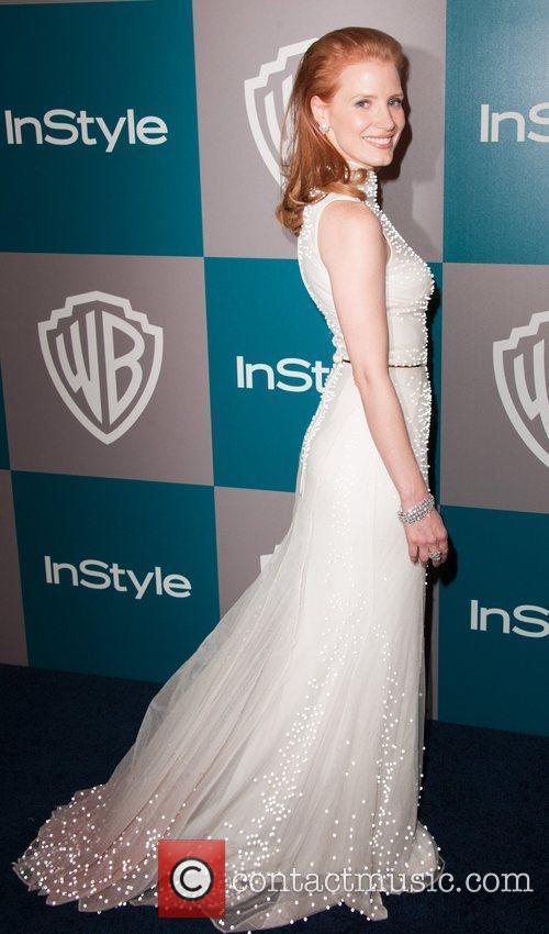 Jessica Chastain and Beverly Hilton Hotel 1