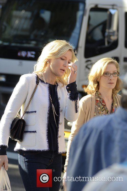 Cate Blanchett Filming scenes for new Woody Allen...
