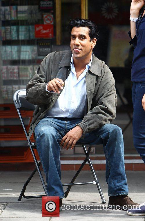 Naveen Andrews on the set of new movie...