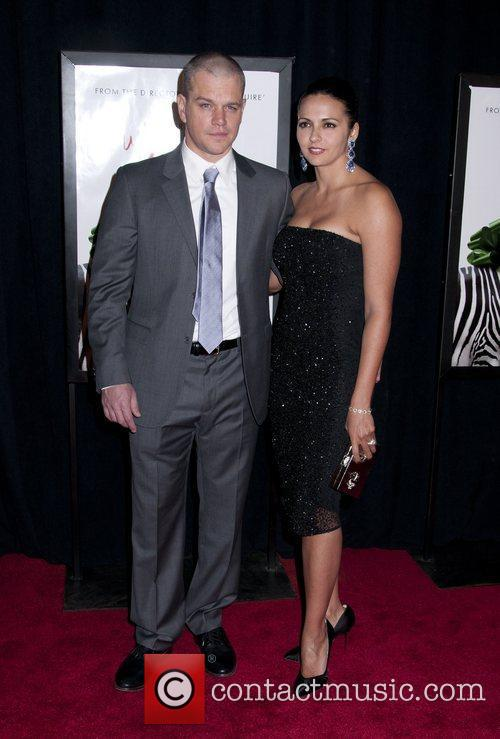 Matt Damon and Luciana Barroso 9