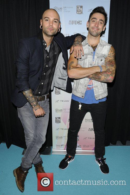 Dave Rosin and Jacob Hoggard  'WE Day'...
