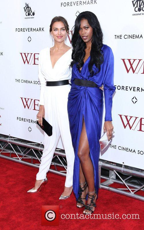 Irina Shayk, Jessica White and Ziegfeld Theatre 1