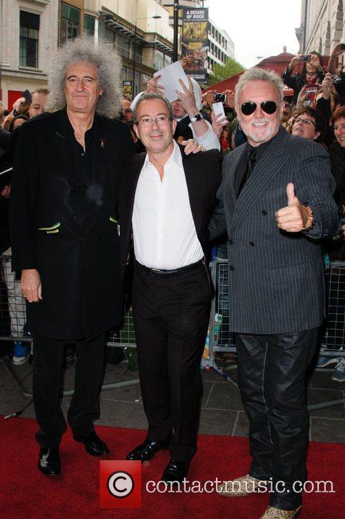 Brian May, Ben Elton and Roger Taylor 1