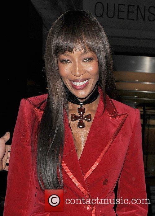 Naomi Campbell arriving at Harvey Weinstein's Orange British...
