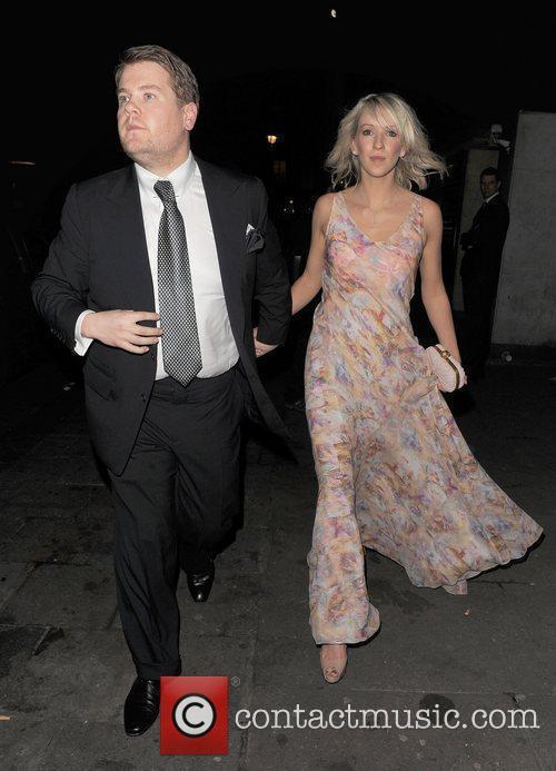 James Corden and Julia Carey leaving Harvey Weinstein's...