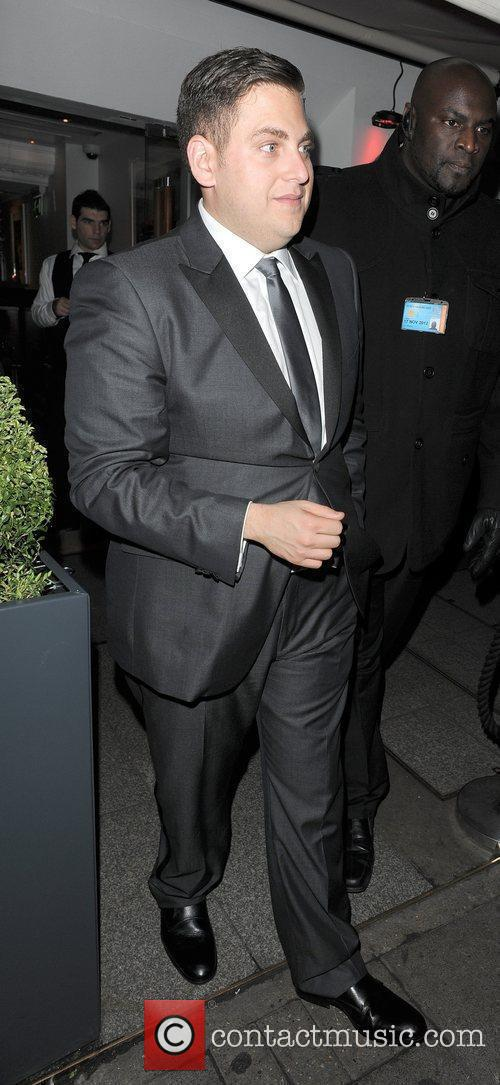 Jonah Hill leaving Harvey Weinstein's Orange British Academy...