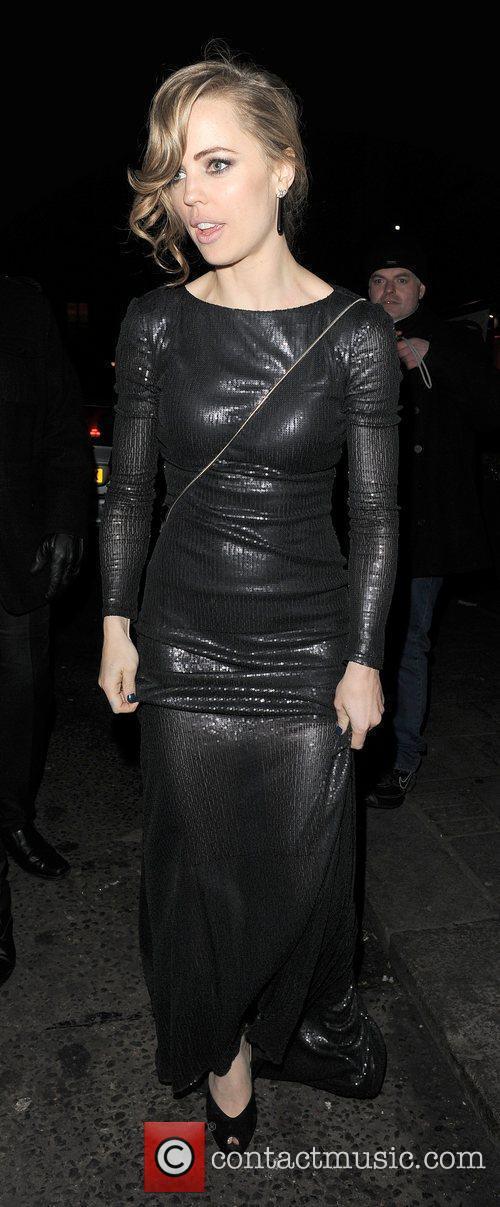 Melissa George leaving Harvey Weinstein's Orange British Academy...