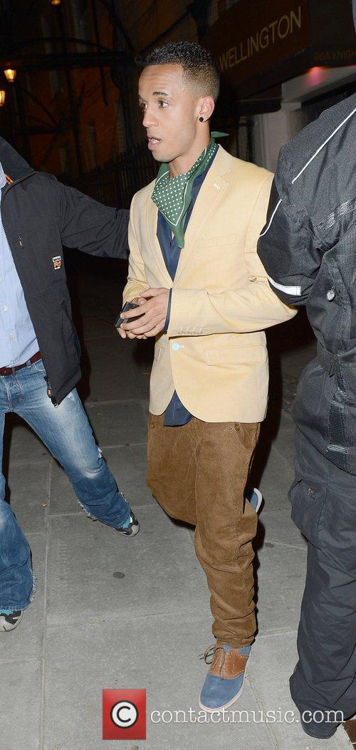Aston Merrygold of JLS,  at the Diamond...